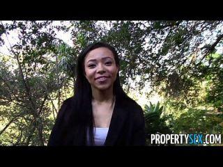 propertysex गर्म काला अचल संपत्ति एजेंट कमबख्त में धोखा दिया