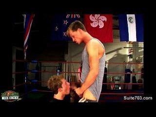 मुक्केबाजी जॉक्स जिम में सेक्स करना