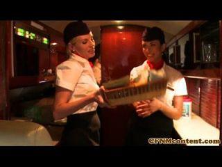 महिलाओं का दबाना सीएफएनएम stewardesses बकवास असभ्य यात्री