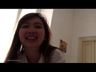 घर पर अद्भुत प्यारा मज़ा एशियाई 18yo किशोर सेक्स