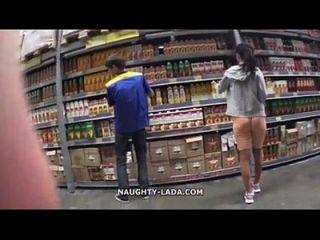 सुपरमर्केट myfaptime.com में ऊंटो और फ्लैशिंग