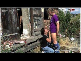 एक झोंपड़ी पर जर्मन आउटडोर उपयोगकर्ता सेक्स