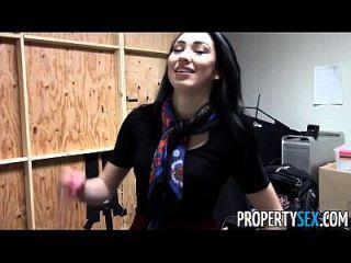 प्रॉपर्टीसाक्स सुंदर श्यामला रियल एस्टेट एजेंट गृह कार्यालय सेक्स वीडियो