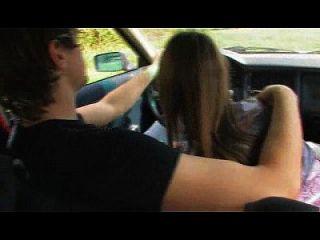 सींग का बना किशोर कार में मुर्गा बेकार wethornycams.com