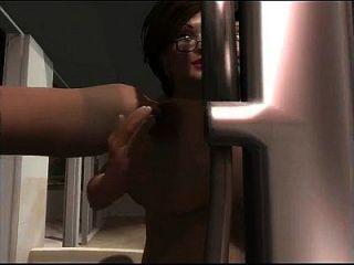 2 लोगों के साथ 3 डी milf बड़े स्तन बकवास
