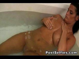 स्नान में मेरी Busty पूर्व प्रेमिका नग्न जासूसी