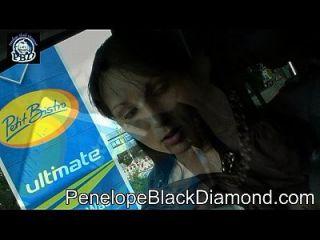 पेनेलोप काले हीरे खरीदारी आउटडोर पैर स्तन पूर्वावलोकन