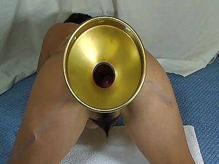 एल्मर पत्नी चरम गिलास गेंदों उसे गधा भरने के लिए