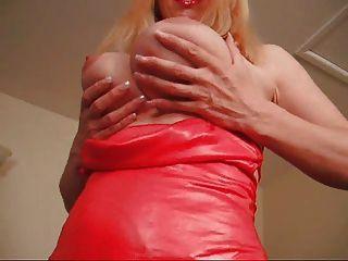 F60 बड़े स्तन लाल रंग की पोशाक महिला