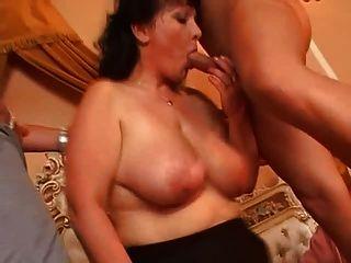 संचिका परिपक्व Pantyhose दो लंड fucks