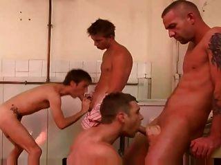 भयानक समलैंगिक 4 कुछ बकवास दृश्य बड़े लंड सार्वजनिक शौचालय में