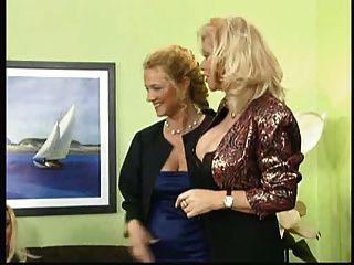 Babette नीले और जर्मन परिपक्व sluts के साथ शुक्राणु पत्र 1