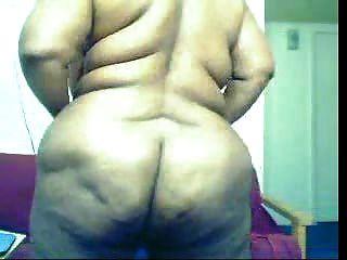 कैम पर वसा काली औरत