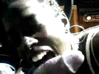 कार में आबनूस बेब blowjob