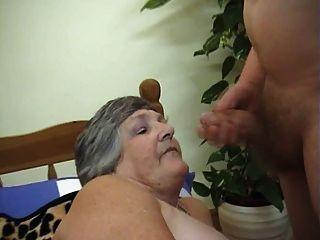 75 वर्ष लालची दादी लिब्बी 3some