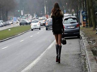 वेश्या हमेशा के लिए !!सड़क पर सार्वजनिक रूप से मेरे गधे चलती