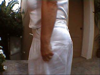 मेरे स्टॉकिंग्स और boobies क्रेते पर चमकती