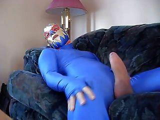 नीले zentai