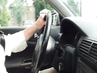 Pantyhose कार और cumshot