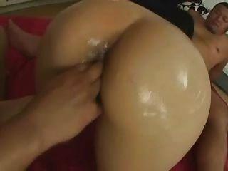 बालों गीला जापानी एशियाई लड़की त्रिगुट डबल creampie