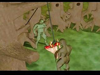 जंगल में अकेले राजकुमारी तबाह हो जाता है