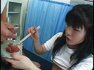 खाद्य - जापानी लड़की cummy कुछ खाती