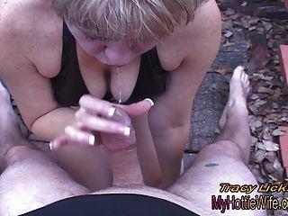 ट्रेसी licks .... अपने मुर्गा चूसना चाहता है !!शौकिया वीडियो pov