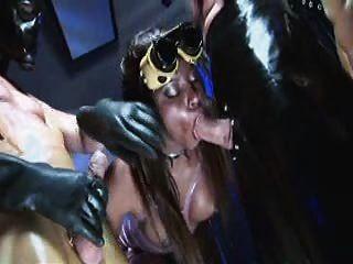 जैस्मीन वेब आबनूस दो नकाबपोश लंड पर बुत वेश्या
