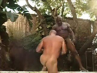 पेशी सहन बड़ा काला डिक द्वारा गड़बड़