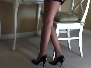 मारिया सेक्सी pantyhose और ऊँची एड़ी के तंग