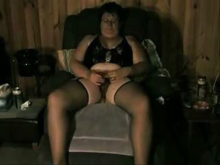 बूढ़ी औरत, जबकि वह हस्तमैथुन देखा जा प्यार करता है
