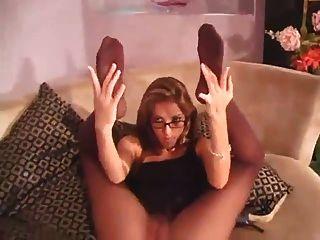 चश्मा pantyhose खेलने में एमआईएलए