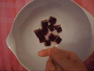 भोजन पर सह - बनाने और वीर्य jello खाने (अनुरोध स्वागत)