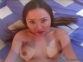 सेक्सी एशियाई शौकिया बेब fucked और पीओवी में facialized