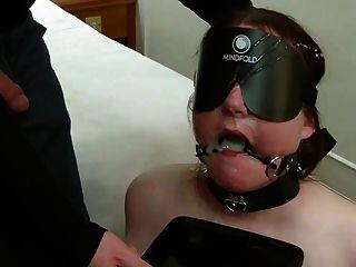 गला घोट दिया, आंखों पर पट्टी विनम्र स्कॉटिश cumslut