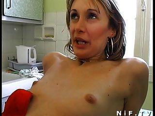 Papy दृश्यरतिक साथ 3some गुदा कमबख्त में एमेच्योर फ्रांसीसी जोड़ी