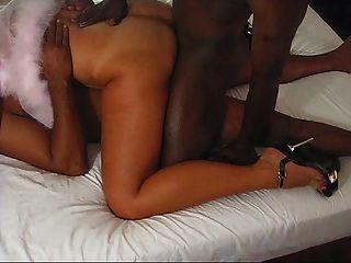 सेक्सी तन पत्नी काला डिक द्वारा dp हो रही है