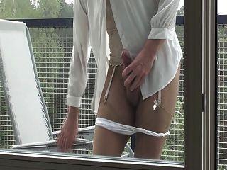 मेरी प्रेमिका के साथ Pantyhose handjobs
