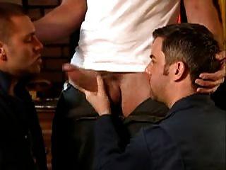 पुरुष बड़ी डिक्स चूसने