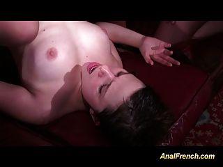 गुदा फ्रेंच बेब कई गहरे लंड के साथ ganbanged हो जाता है