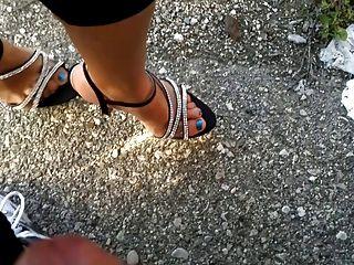 shoejob, cumshot पैर और जूते