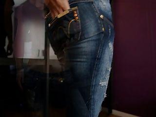 jeansfetish और मेरे गधे और पैंटी पर करीब-अप