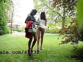 2 समलैंगिकों का कुतिया Parc में exhibitionnist