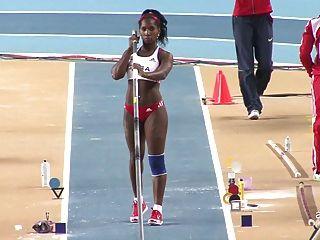 यारिस्ले सिल्वा: सेक्सी गधा क्यूबा ओलंपिक पोल वॉल्ट - Ameman