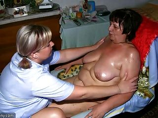 मोटा दादी और dildo के साथ वसा milf Masturbating