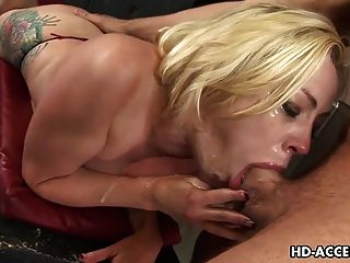 डीप गले समर्थक Adrianna निकोल सबसे अच्छा blowjob कभी!