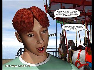 कार्निवल में चार्ली: 3 डी समलैंगिक कार्टून मोबाइल फोनों हेनतई कॉमिक्स