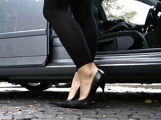 परम चमड़े ऊँची एड़ी के जूते stilettos जूते CUIR LEDER 3