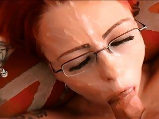 सुंदर ब्रिटिश लाल सिर पीओवी चेहरे