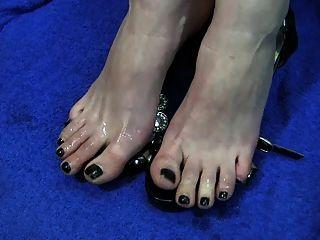 सह पैर की उंगलियों toejob